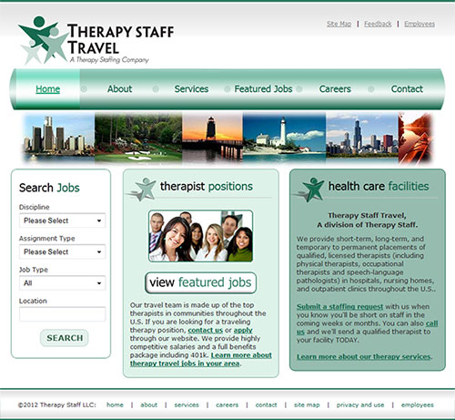 Therapy Staff Travel Website